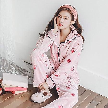 JYLW Pijamas Invierno Mujer Pijamas De Tallas Grandes para ...