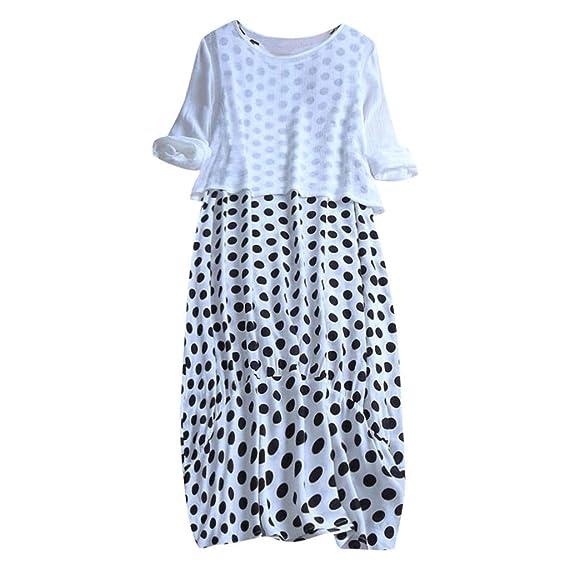 VEMOW Faldas de Mujer Tops Blusa Impresión de Punto de Las Mujeres ...