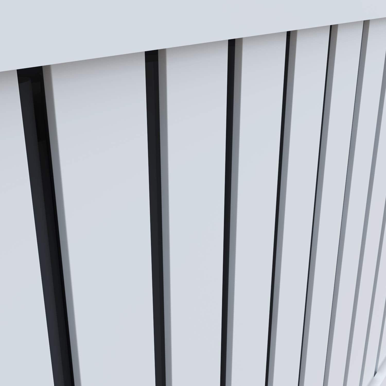 Heizk/örperverkleidung Extra Gro/ß Modern Vertikal Lamell Wei/ß Lackiert Schrank Heizk/örper Abdeckung f/ür Wohnzimmer//Schlafzimmer//K/üche