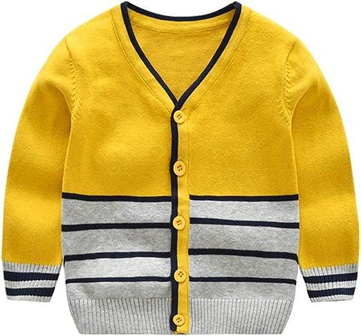 Weentop Suéter de los niños para niños Espesar Rayas de Punto ...