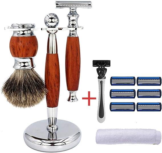 Set de afeitado, afeitadora manual para hombre, afeitadora manual ...