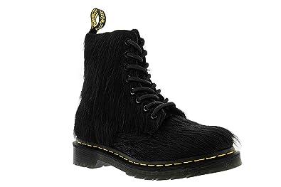 on sale cc17f 985ab Dr. Martens Women s 1460 8 Eye Hair Fashion Boots, Black Leather, 4 M