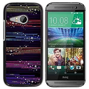 Design for Girls Plastic Cover Case FOR HTC ONE MINI 2 / M8 MINI Dots Glitter Purple Black OBBA