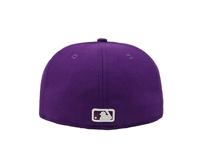 new arrivals 04038 f9f1b Amazon.com  New Era 59Fifty Hat MLB Oakland Athletics Purple Fitted  Headwear Cap  Clothing