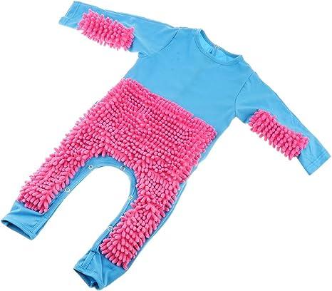Baby Mop Romper Newborn Clothes Crawling Jumpsuit Infant Cleaning Mop Suit