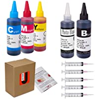 JetSir 5 Color Compatible Ink Refill Kit Use for HP 564 364 178 Inkjet Cartridge Refillable Cartridge CISS 100ML X5 (1…