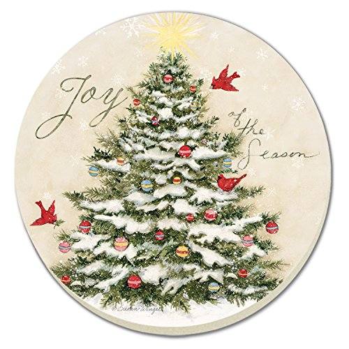 - CounterArt Joy of the Season- Christmas Tree Absorbent Coasters, Set of 4