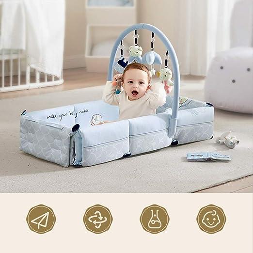ZXCVB Multifuncional Plegable Cuna, Manta de bebé biónico Cama ...