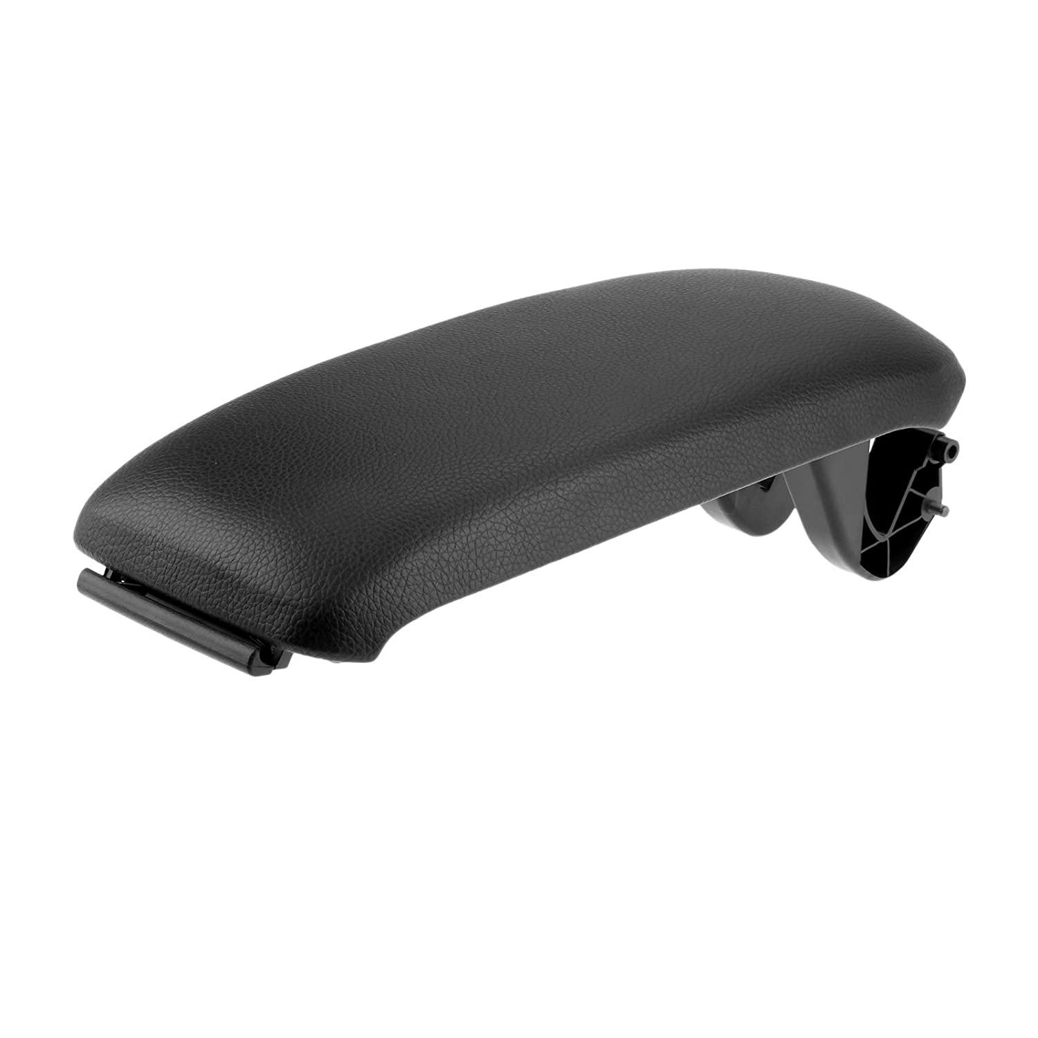 Aupoko Leather Armrest Center Console Lid Cover, Base Plate Fit for Audi A3 8P 2003-2012 Black