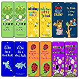 Creanoso Motivational Cute Bookmarks Cards for Kids (60-Pack)- Bookmarker - Excellent Party Favors Teacher Classroom Reading Rewards and Incentive Gifts for Young Readers Kids Boys and Girls