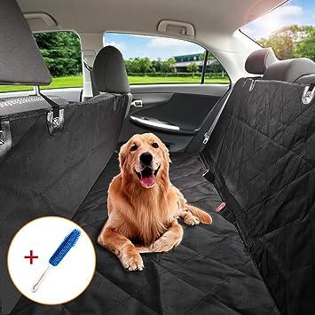Perro Del Asiento,ZOTO 144*150cm Cubierta del Asiento de coche para Mascotas,Impermeable Funda Coche Para Perro,Universal Protector de tapicería para perros ...