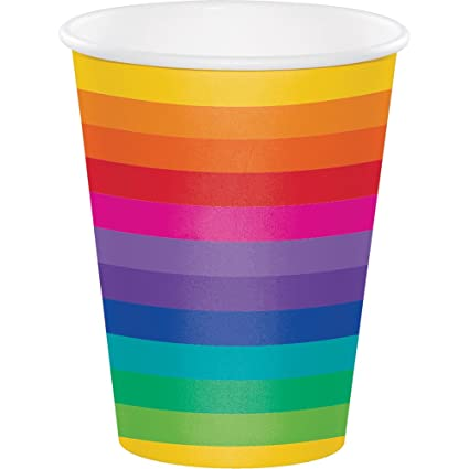 Buy Creative Converting 375972 96 Count 12 Oz Hot Cold Paper Cups Rainbow Online At Low Prices In India Amazon In