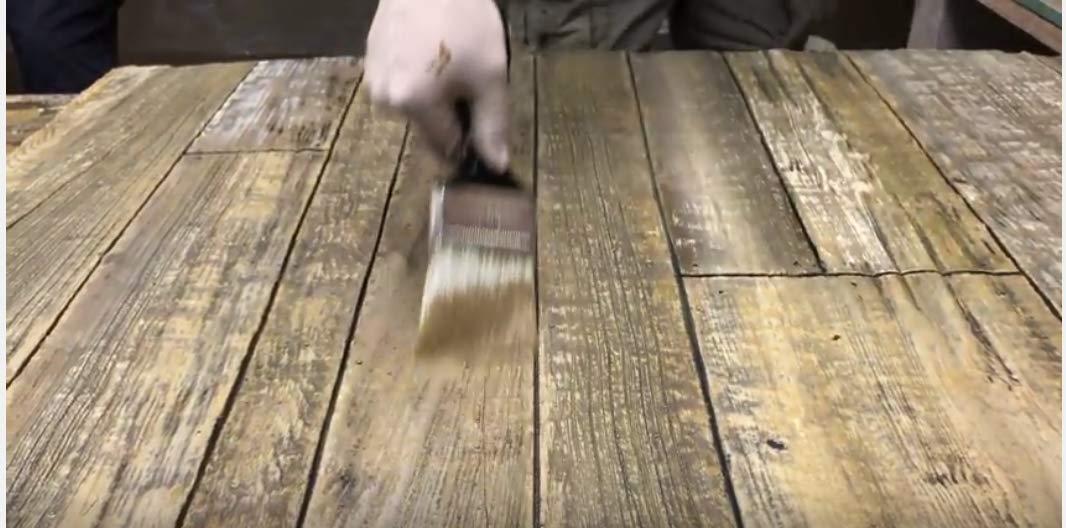 CONCRETE TEXTURE ROLLERS - Best Concrete Wood Texture Roller Kit, 4 Unique Rollers With Very Unique Wood Designs by SBC Decorative Concrete Training and Products