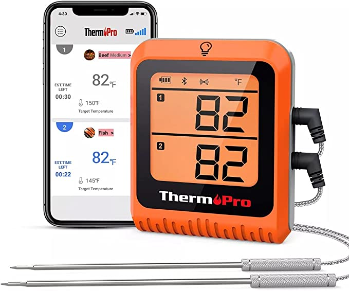 ThermoPro 500ft Long Range Bluetooth - Longest-Range Meat Thermometer