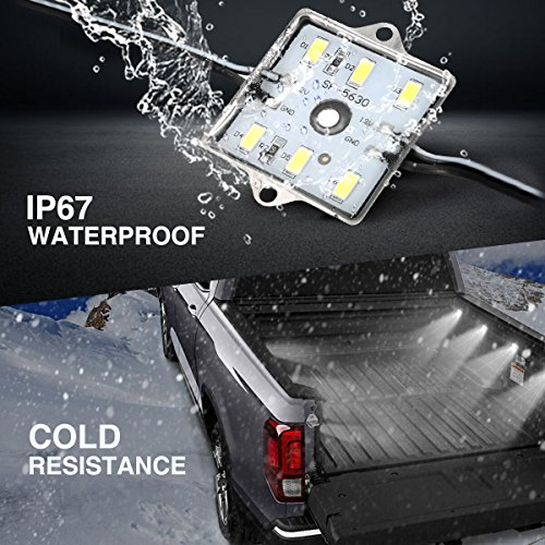 AUDEW-2Pcs-4-Pods-24Led-Truck-Bed-Light-Strips-2400-Lumens-Total-Unloading-Cargo-Light-with-OnOff-Switch-IP67-Waterproof-for-Pickup-Truck-RV-SUV-Boats-Ice-House-White