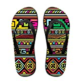 Traditional Africa Flip Flops Casual Sandals Multicolored Homewear Slippers For Men Women