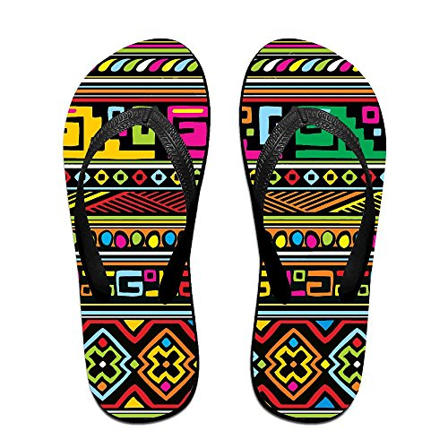Traditional Africa Flip Flops Casual Sandals Multicolored Homewear Slippers For Men Women by Ncwi Wa