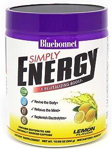 Bluebonnet Nutrition Simply Energy Powder, Lemon, 10.58 Ounce