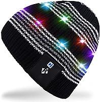 rotibox stylische LED Licht bis Beanie Hat Knit Cap Pom Pom Twinkle Lights 4Füße 18LEDs für Männer Frauen Innen und Außenbereich, Festival, Urlaub, Feier, Party, Bar, Christmas gifts