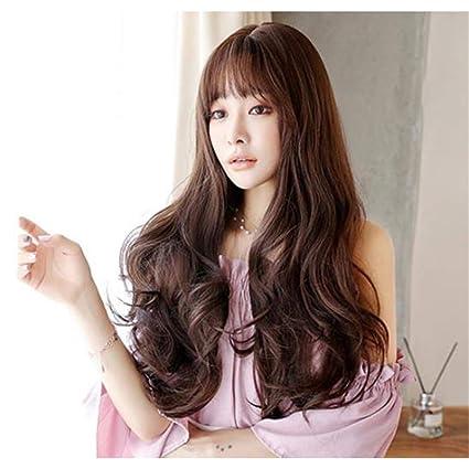 WSC Postizos Peluca Pelo largo femenino Conjunto de pelo largo y rizado Ola grande Fluffy Natural