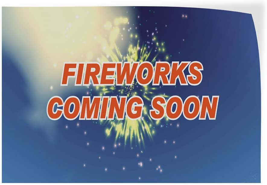 Set of 5 Decal Sticker Multiple Sizes Fireworks Coming Soon Retail 0 Outdoor Store Sign 0-27inx18in