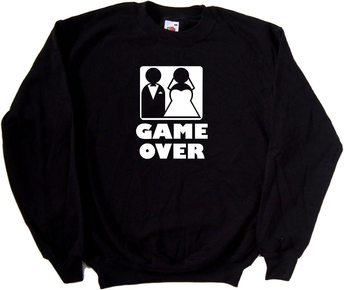 Game Over Wedding Funny Black Sweatshirt