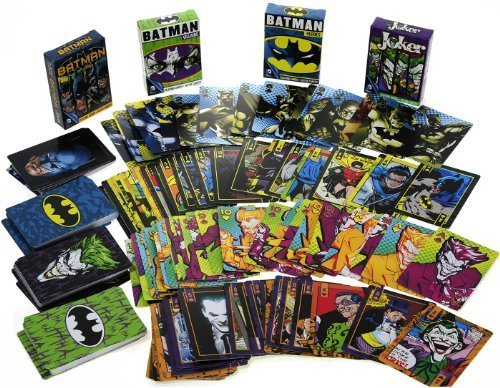 DC COMICS Themed Playing Cards _ Assort #1 _ Bundle 4 Unique Decks ()
