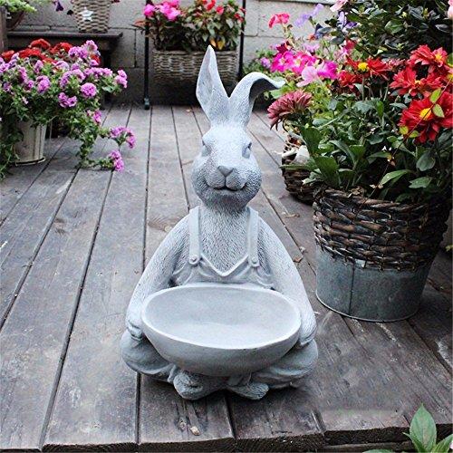 ZHAS Hacer el viejo conejo divertida decoración retro American village cenicero flores flores de alimentación de aves, un...
