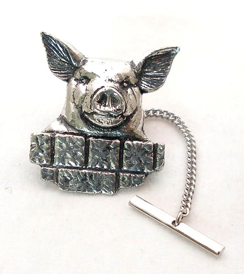 Alfiler de corbata en la cabeza de cerdo fino de peltre Inglés, en ...