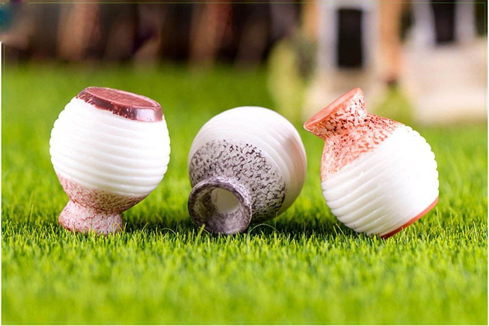 Oyfel Miniatur Fairy Garden Decor Ornament Puppenhaus Mini Garten Statuen Vase DIY Home Outdoor Dekoration Blumentopf zuf/ällige Farbe 25/* 21/mm