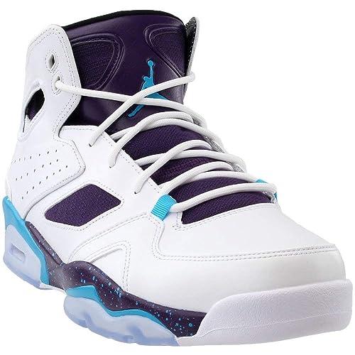best loved abea4 ea00e Amazon.com   Jordan Mens Flight Club 91 White Blue Lagoon Purple Black Size  10   Basketball