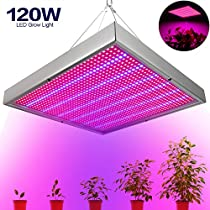 Derlights 120W LED Grow Light Panel, 1365pcs Blue& Red Plant Grow Light Bulb, Growing Light Lamp Fixture for Indoor Plants Garden Greenhouse Hydroponics Germination Vegetative and Flower (120W)