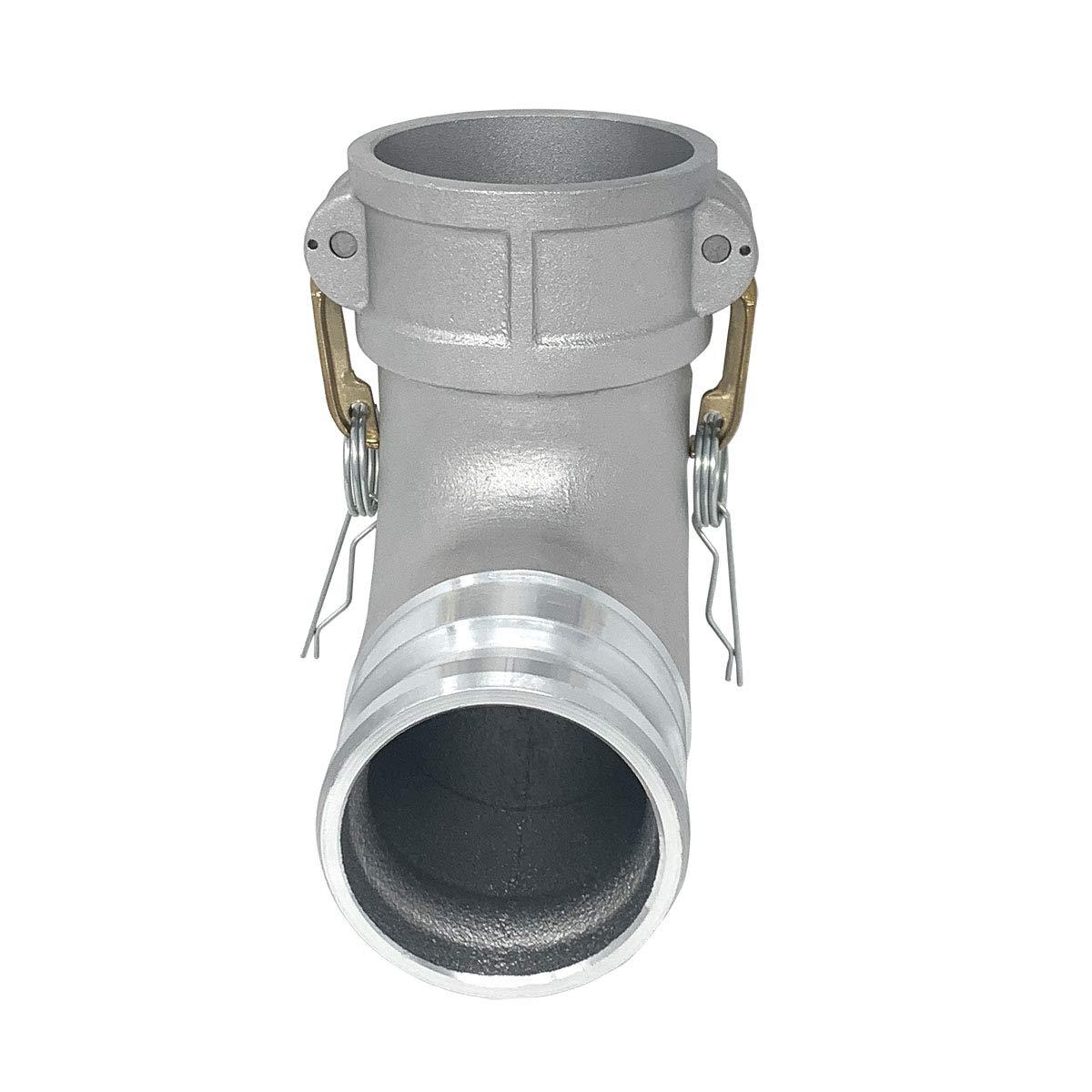 CAM-30-DA90-AL Gloxco Aluminum Type DA Cam and Groove Hose Fitting 90 Degree Elbow 3/″ Female Camlock x 3/″ Male Camlock