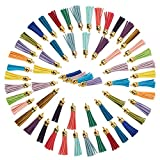 Juvale Leather Tassel Keychain - 100-Piece Faux Leather Suede Tassel Charm, Multi-Color, 20 Assorted Colors (2.1 Inches)