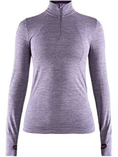 Craft Mens Base Layer  Fuseknit Comfort Zip Long Sleeve Wicking Top ... 71955e3e8