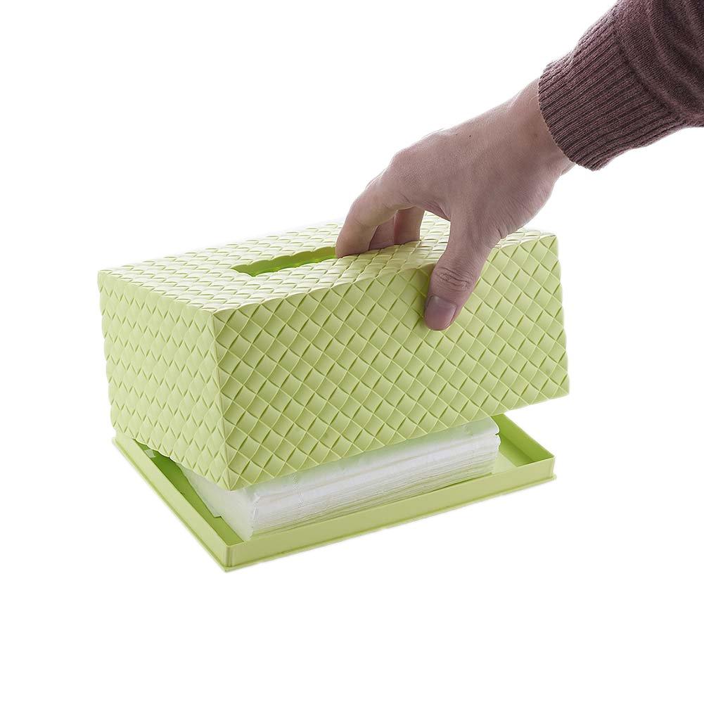 Woopower pl/ástico dispensador de toallitas caja /caja de pa/ñuelos papel servilleta Holder almacenamiento Caso para hogar habitaci/ón coche Hotel azul azul Caja de pa/ñuelos beb/é/