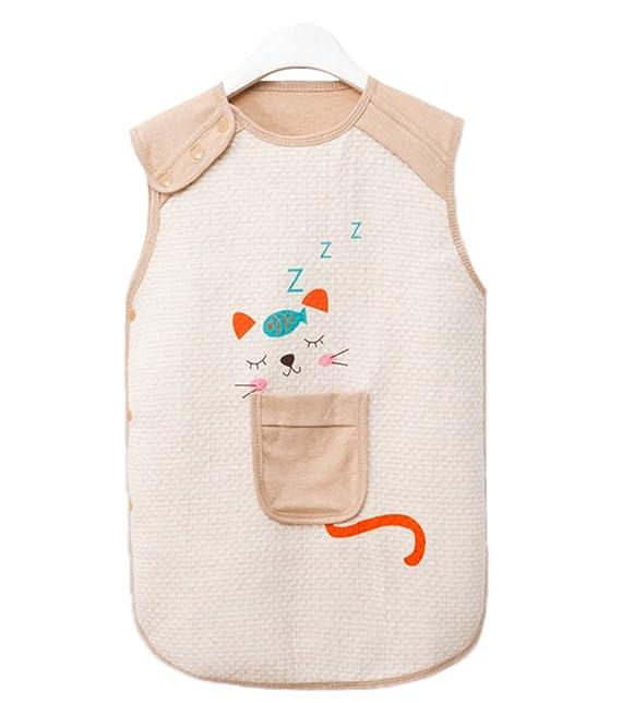 Baby Girl Boy Saco de dormir Growbag Lindo saco de dormir pequeño de la historieta del gato Sin mangas 0-6T Deyou: Amazon.es: Ropa y accesorios