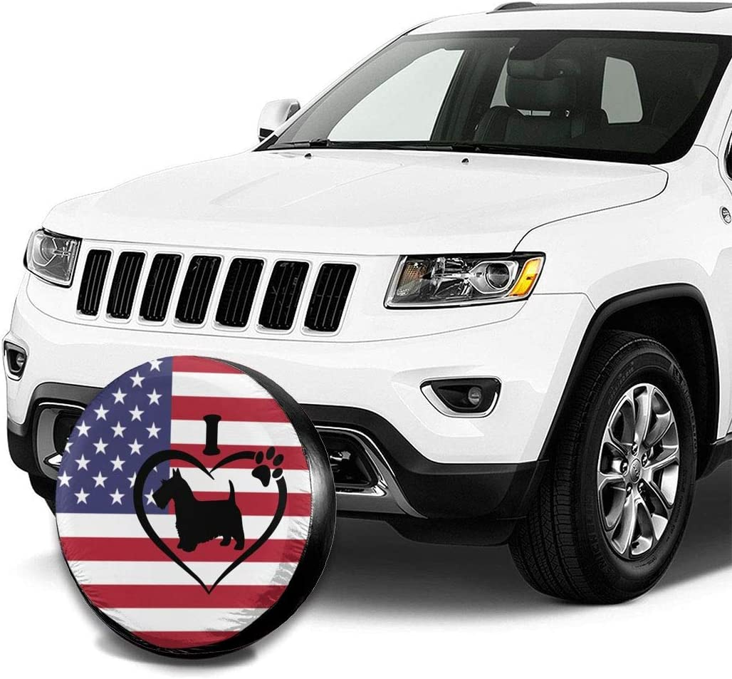 Spare Tire Covers Captain America Shield Wheel Covers Rv Tire Covers Sun-Proof Weather-Proof for Jeep Trailer RV SUV Truck Camper Travel Trailer Accessories 14 15 16 17 Inch