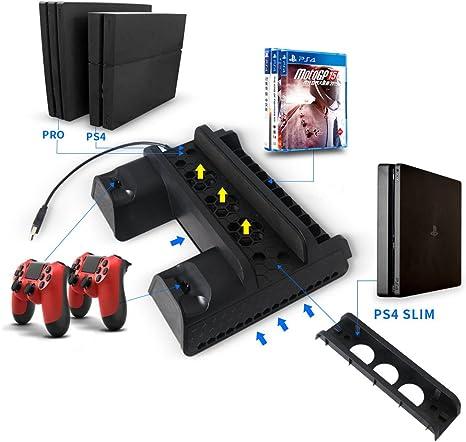 Soporte PS4, soporte vertical BZMC para PS4 / Slim / pro con ...