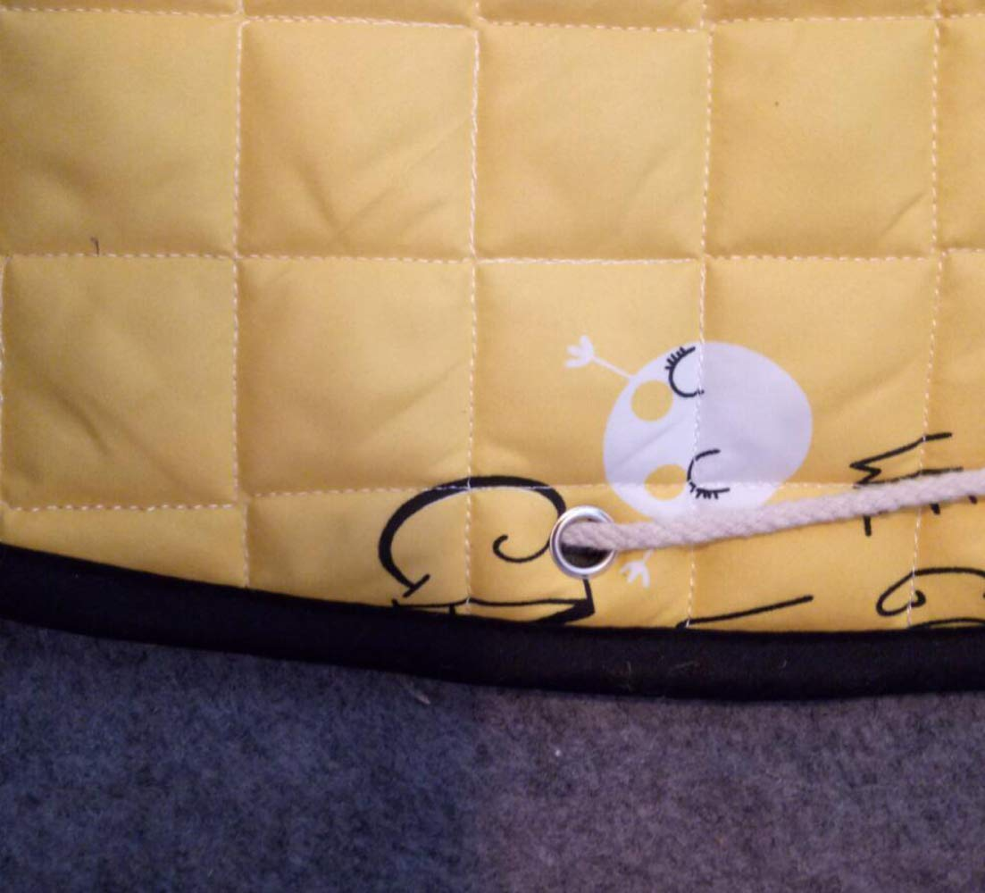QXMEI Round Mat Baby Crawling Mat Home Bedroom Children Climbing Mat Baby Game Mat,Yellow by QXMEI (Image #3)