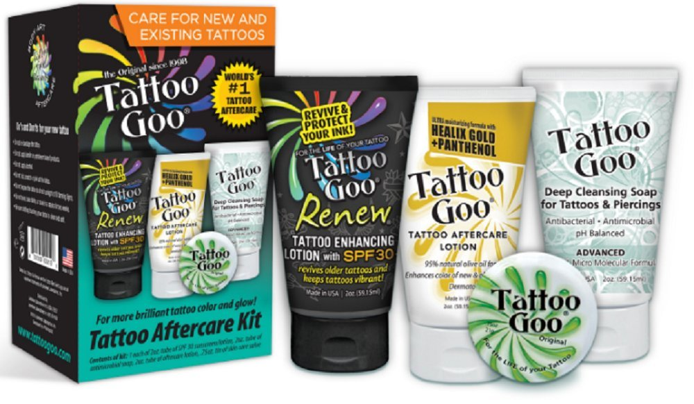 4 In 1 Tattoo Goo Aftercare Kit: Amazon.es: Salud y cuidado personal