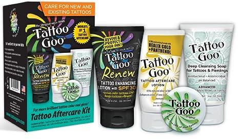 4 In 1 Tattoo Goo Aftercare Kit: Amazon.es: Salud y cuidado personal