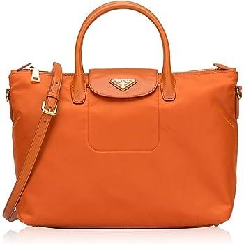 2530a3eb67d62 ... official store prada tessuto saffiano nylon tote shopping shoulder bag  papaya e6fe0 90734
