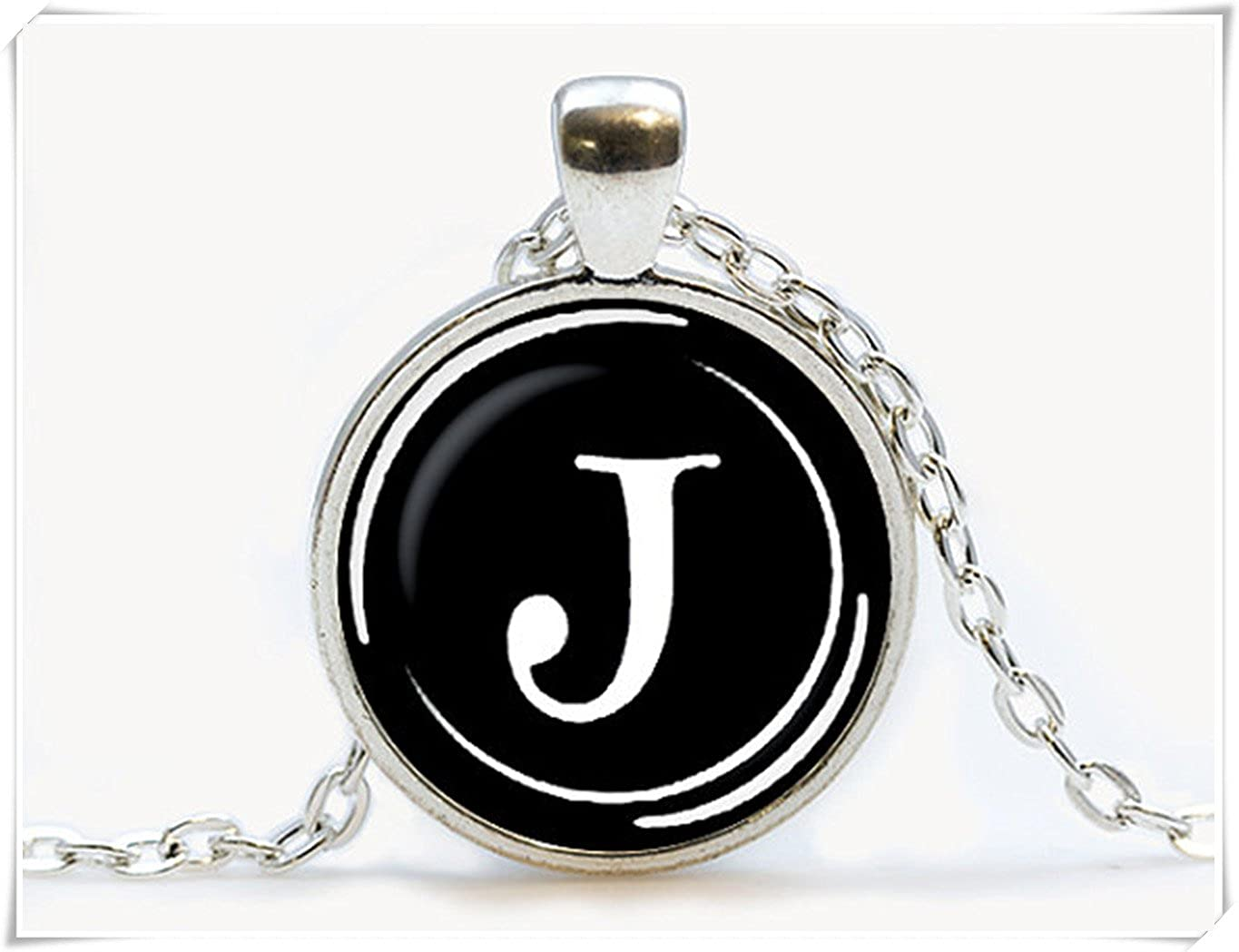 Vintage Typewriter Key pendant Typewriter jewelry. Initial Name, Birthday gift,. Letter J Necklace. ok cq2