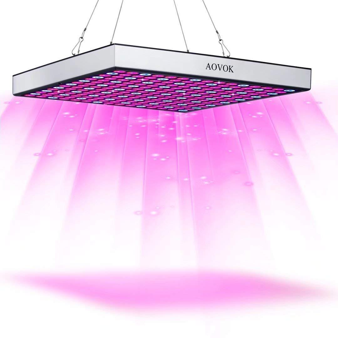 Grow Light, AOVOK LED Grow Lamp Bulbs Plant Light Panel Full Spectrum for Indoor Plants, Greenhouse, Vegetable, Flowers, Succulents, Seedlings Starting
