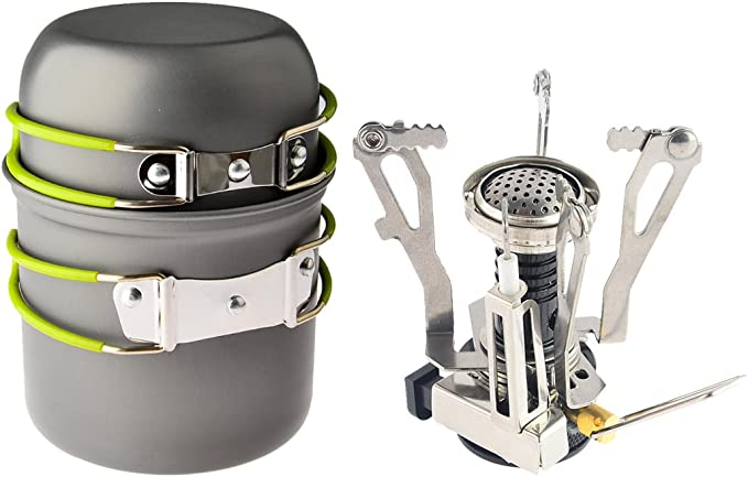Camping Stove Cooking Tool Firewood Mini Stainless Steel Outdoor Picnic Gasifier
