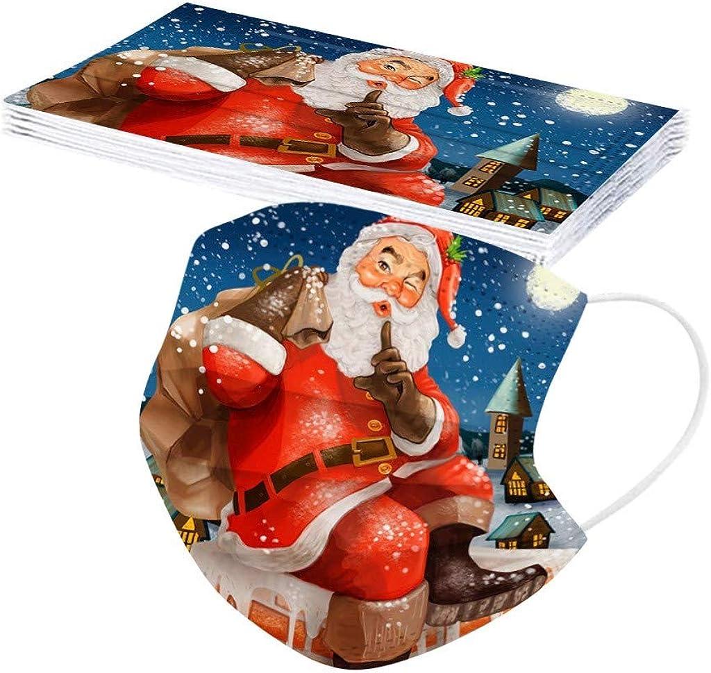 duquanxinquan Christmas Mundschutz/_ Einweg 3-lagig f/ür Erwachsene