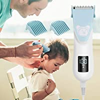 WADEO Baby Hair Clipper, Electric Hair Trimmer with 4 Guide Combs, Rechargeable Cordless Electric Haircut Kit for Kids…