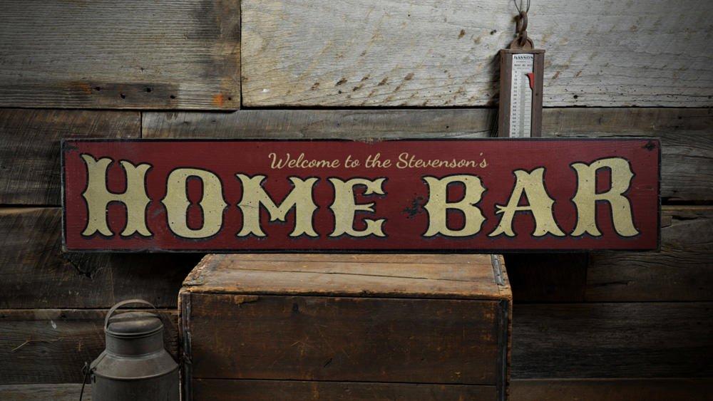Amazon.com: Home Bar Letrero De Madera, personalizado ...