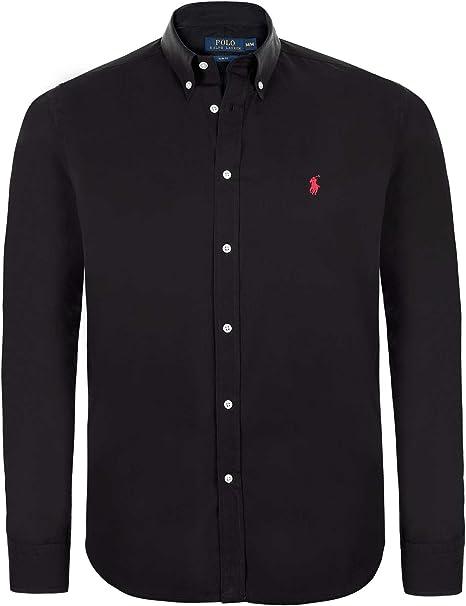 Ralph Lauren – Camisa negra cuello italiano